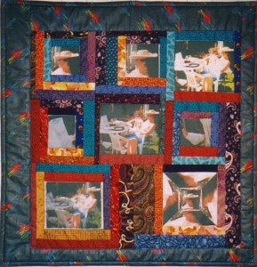 quilts made with bubble jet set for photo transfer