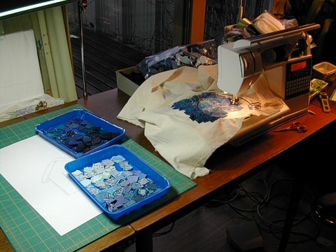 Blue Night sewing 2