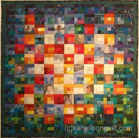 Babyquilt with photos of family memebers
