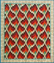 Bargello flammedans quilt