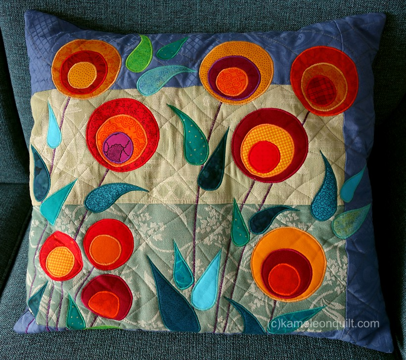 pillow2 with stylized flowers