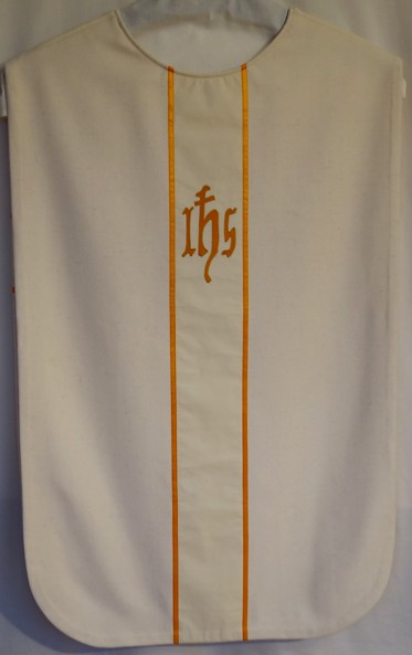 white chasuble for Frøya church