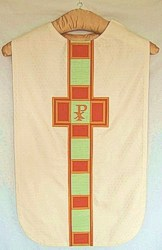 white chasuble