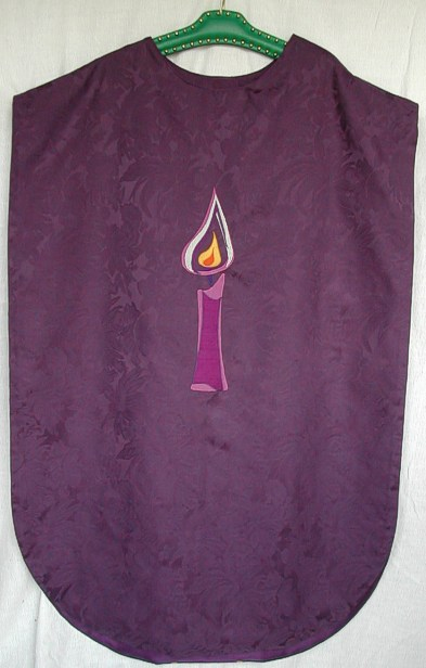 purple chasuble front view