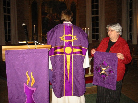 liturgical textiles for frøya church kalvaag