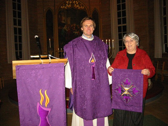 presenting the purple church textiles