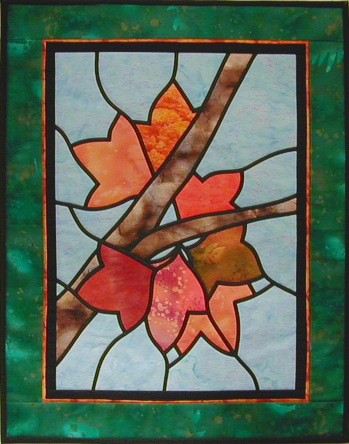 Stained Glass Quilt 'Maple Leaves'