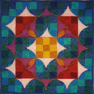 Chameleon Quilt no 3 'Nine-patch Chameleon'