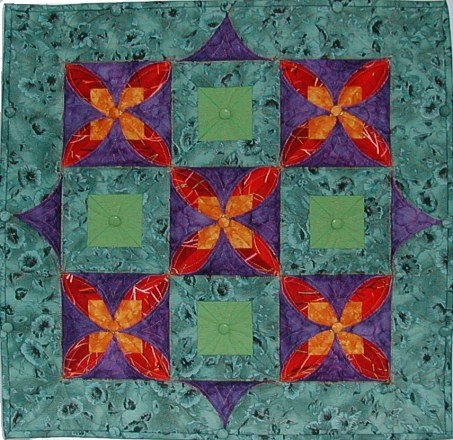 Simple Kameleon quilt night view