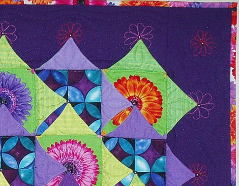 Kameleon Quilt no 1 Night and Day detail