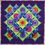 Greetje Heins kameleon quilt 'Night and Day'