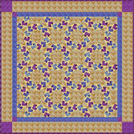 Flying hearts quilt