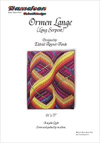 Bargello quilt with curves in many directions